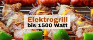 Elektrogrill bis 1500 Watt